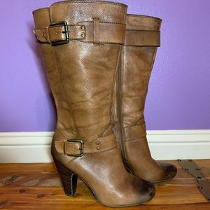 Arturo Chiang Brown Leather Tall Boots